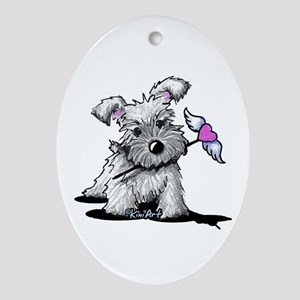 KiniArt Schnauzer Heart Ornament (Oval)